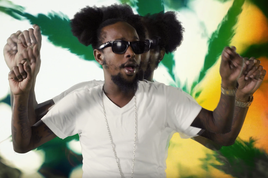 Popcaan photo from his video weed is my best friend