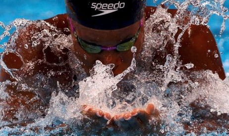 Jamaican Olympian Alia Atkinson tied the World Record in the 100  meters breaststroke on day 1 of the 2016 FINA World Cup's opening stop in